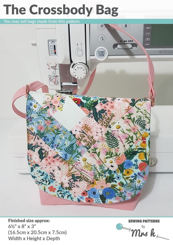 The Crossbody Bag by Sewing Patterns by Mrs H (Printed Paper Pattern)