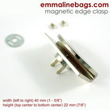 Half Moon - Magnetic Edge Clasp in Nickel Finish