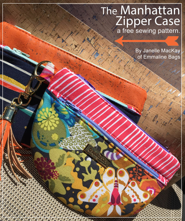 PDF - The Manhattan Zipper Case  - A Free Pattern