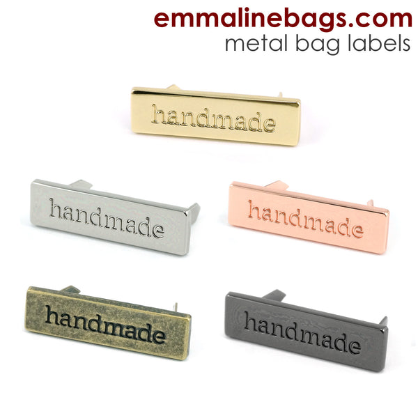 "Metal Bag Label: ""handmade"" In 5 Finishes ($2.49"