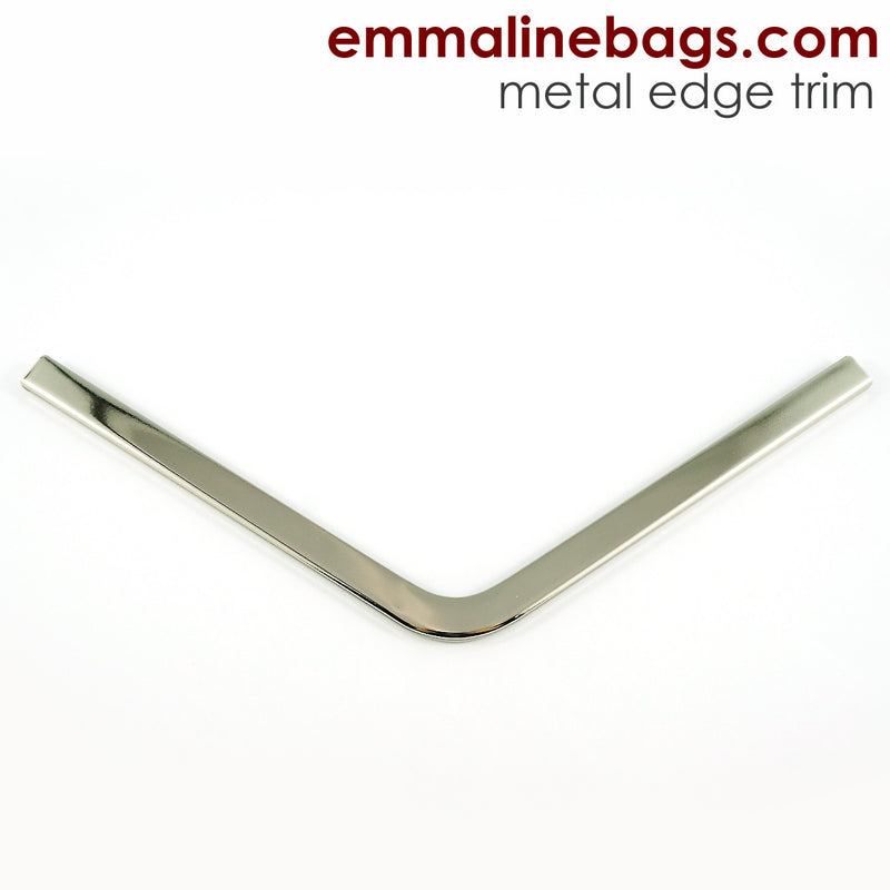 Metal Edge Trim: Style A - Large Pointed - in Nickel Finish