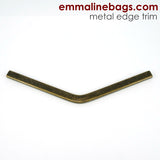 Metal Edge Trim: Style B - Medium Pointed - in Antique Brass