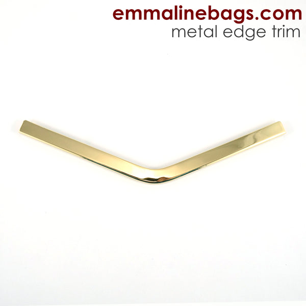 Metal Edge Trim: Style B - Medium Pointed - in Gold Finish