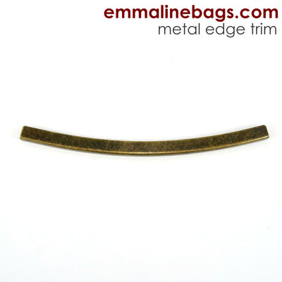 Metal Edge Trim: Style D - Curved - in Antique Brass