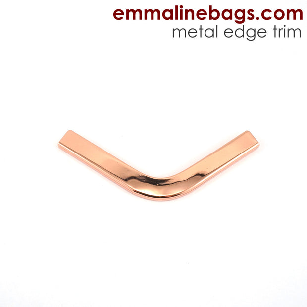 Metal Edge Trim: Style C - Small Pointed - in Copper Finish