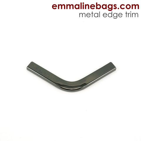 Metal Edge Trim: Style C - Small Pointed - in Gunmetal Finish