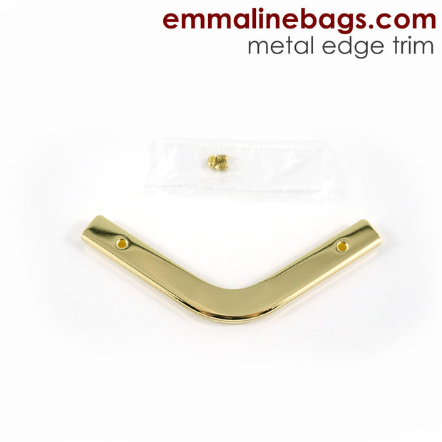 Metal Edge Trim: Style C - Small Pointed - in Gold Finish