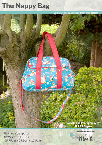 The Nappy Bag by Sewing Patterns by Mrs H (Printed Paper Pattern)