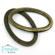 Oval Bag Handles - (SCREW IN) - Antique Brass Finish