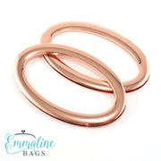 Oval Bag Handles - (SCREW IN) - Copper Finish
