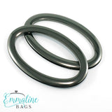 Oval Bag Handles - (SCREW IN) - Gunmetal Finish