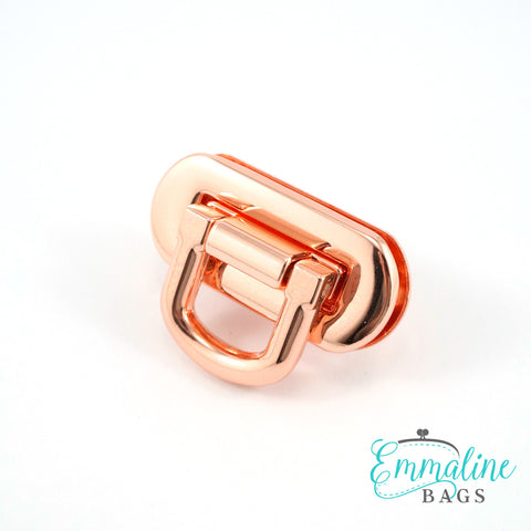 Oval bag Flip lock in Copper finish for Emmaline Bags.