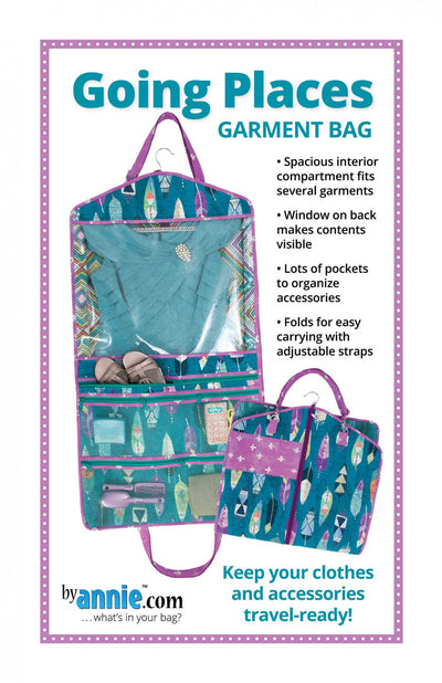Going Places Garment Bag from By Annie (Printed Paper Pattern)