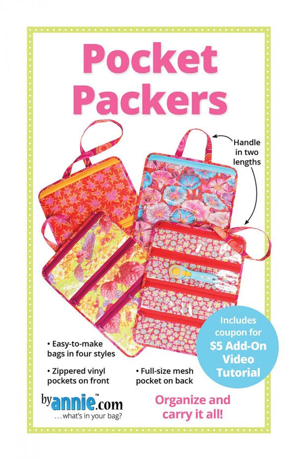 Pocket Packers -  from By Annie (Printed Paper Pattern)