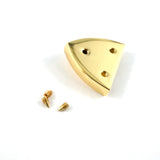 "Pointed Strap End Caps (1"" wide) in Gold - 4 Pack"