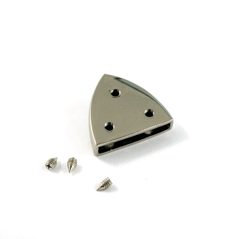 "Pointed Strap End Caps (1"" wide) in Nickel - 4 Pack"