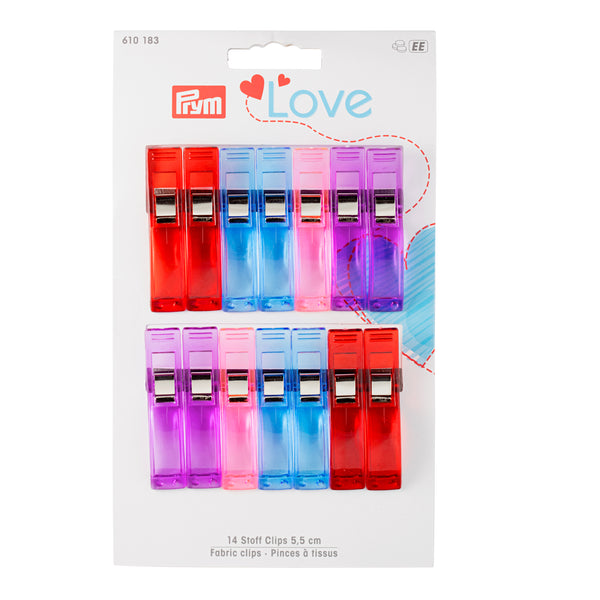 Prym Love Fabric Clips - (Large 5.5 cm)