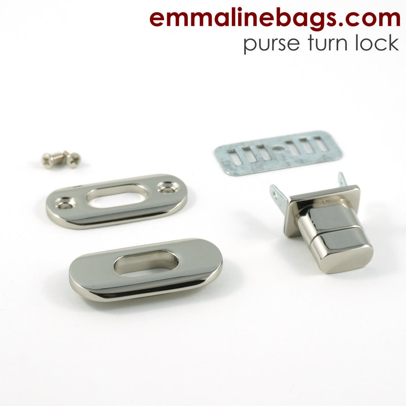 Nickel turn locks for your purses and wallets