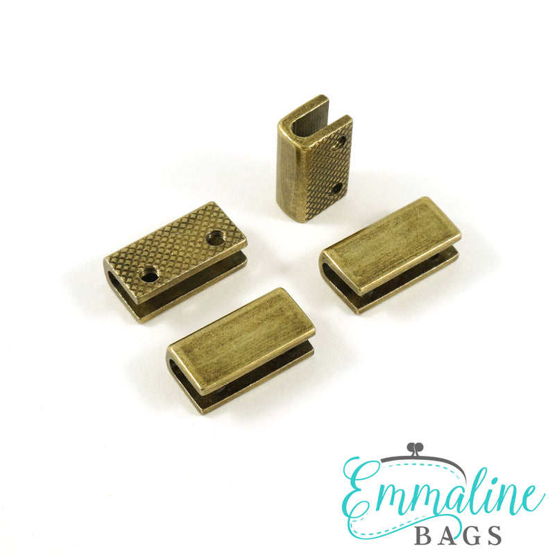 "Rectangular Strap End Caps (3/4"" wide) (4 Pack)"