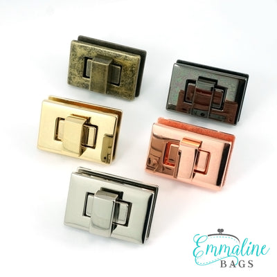 Rectangular Bag Lock (Choose from 5 finishes)