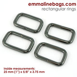 Rectangular Rings: 6 sizes & 6 finishes available to choose from.  (4 Packs)