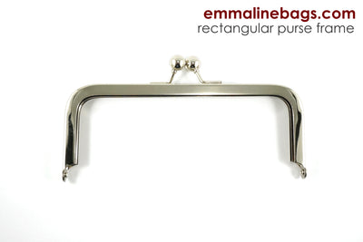 "Rectangular Purse Frame 6"" - Nickel"