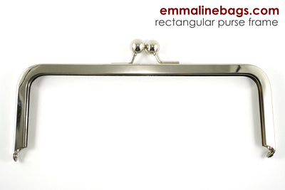 "Rectangular Purse Frame 8"" - Nickel"