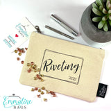 """Riveting Things Inside"" Organic Cotton Zipper Pouch"