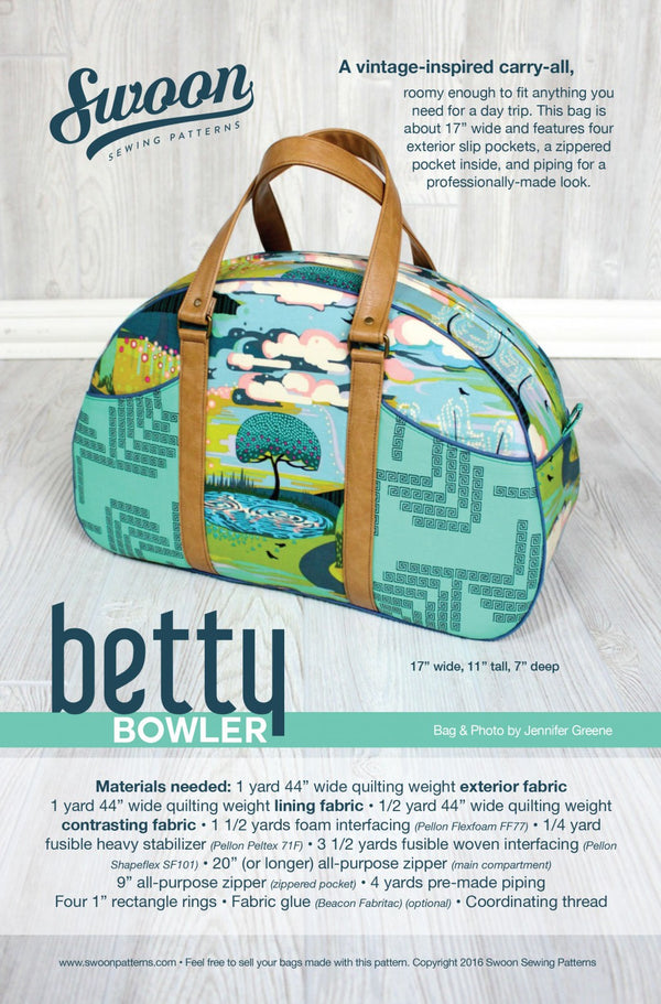 Betty Bowler by Swoon Sewing Patterns (Printed Paper Pattern)