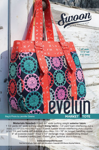 Evelyn Market Tote by Swoon Sewing Patterns (Printed Paper Pattern)