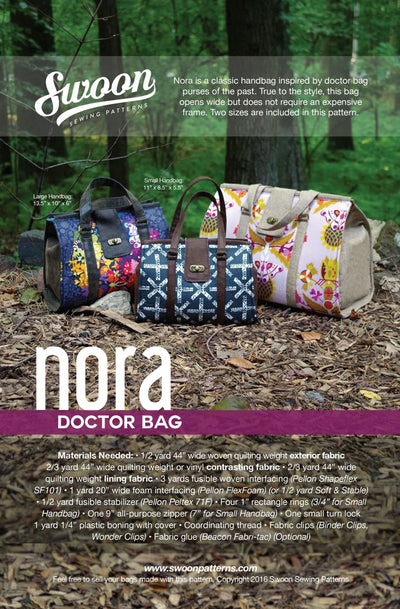 Nora Doctor Bag by Swoon Sewing Patterns (Printed Paper Pattern)