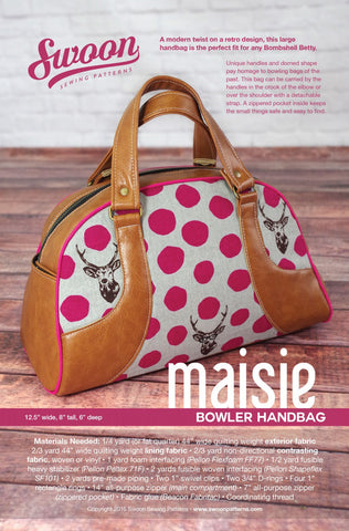 Maisie Bowler Handbag by Swoon Sewing Patterns (Printed Paper Pattern)