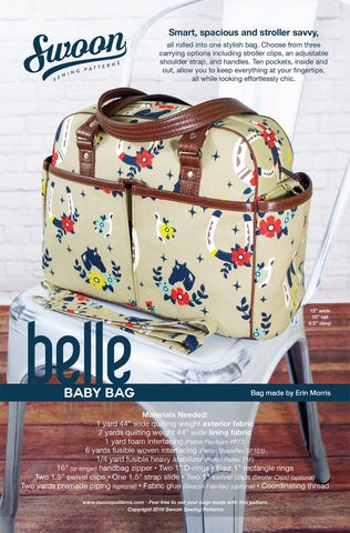 Belle Baby Bag by Swoon Sewing Patterns (Printed Paper Pattern)