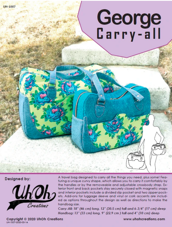 George Carry-All by UhOh Creations (Printed Paper Pattern)