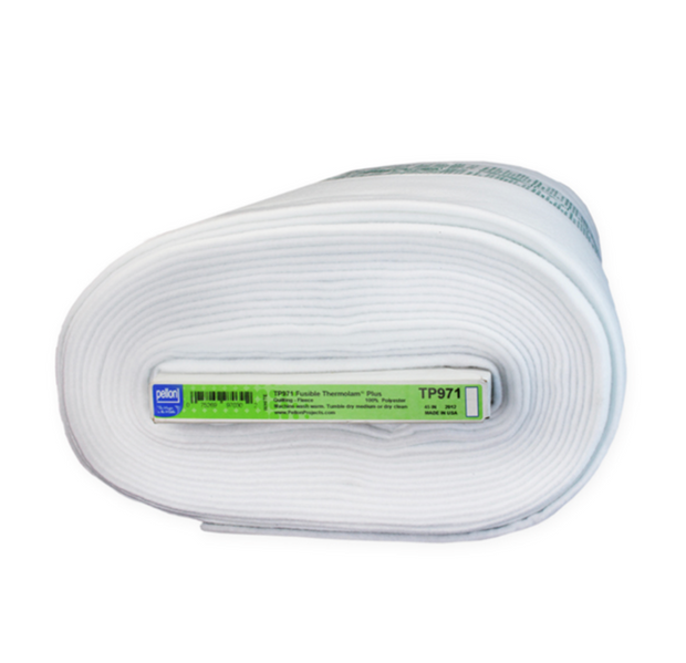 Pellon Thermolam Plus Fleece, Fusible White TP971F - 1/2 YARD