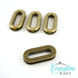 "Screw Together Grommets: 1"" Oblong in Antique Brass (4 Pack)"