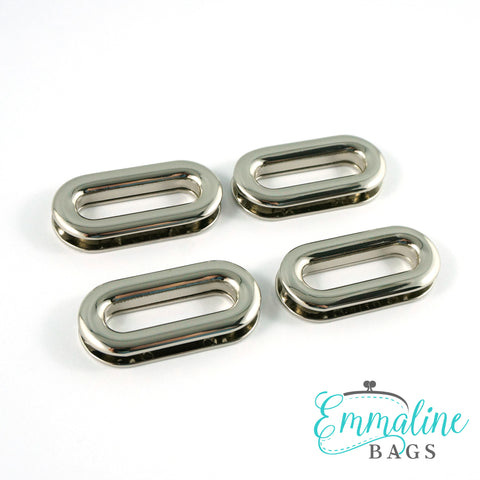 "Screw Together Grommets: 1"" Oblong in Nickel (4 Pack)"