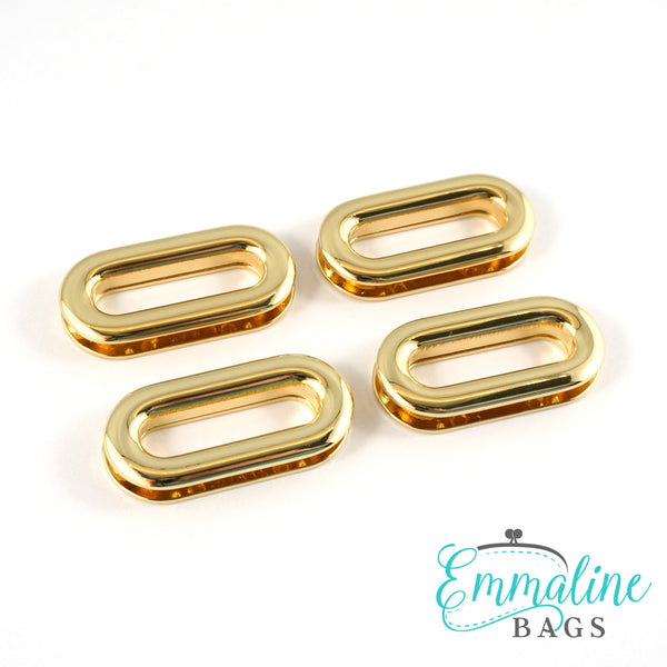 "SCREW TOGETHER Grommets: 1"" Oblong in Gold (4 Pack)"