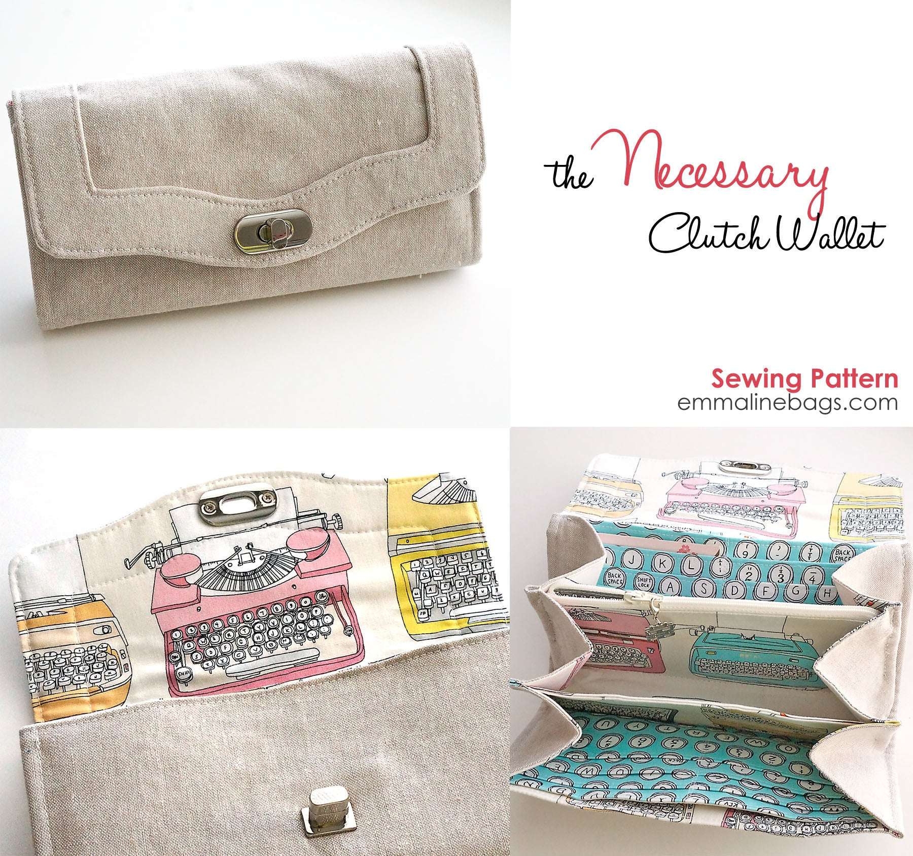 Necessary clutch wallet paper pattern by emmaline bags paper pattern the necessary clutch wallet jeuxipadfo Image collections
