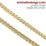Purse Chain: **SINGLE-LINK** Chain in Gold (Choose from 2 Lengths)