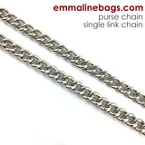 Purse Chain: **SINGLE-LINK** Chain in 5 Finishes (Choose from 2 Lengths)