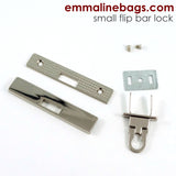 Small Bar Lock with Flip Closure in 2 Finishes