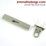 Small Bar Lock with Flip Closure in Nickel Finish