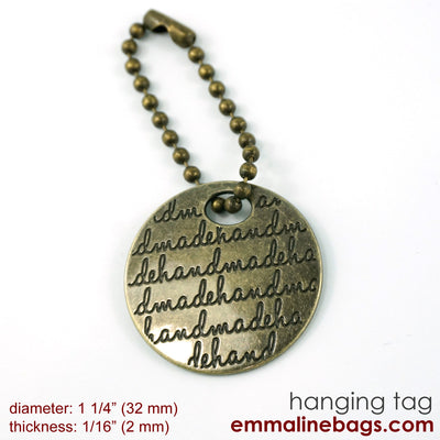 Small hanging tag in Antique Brass