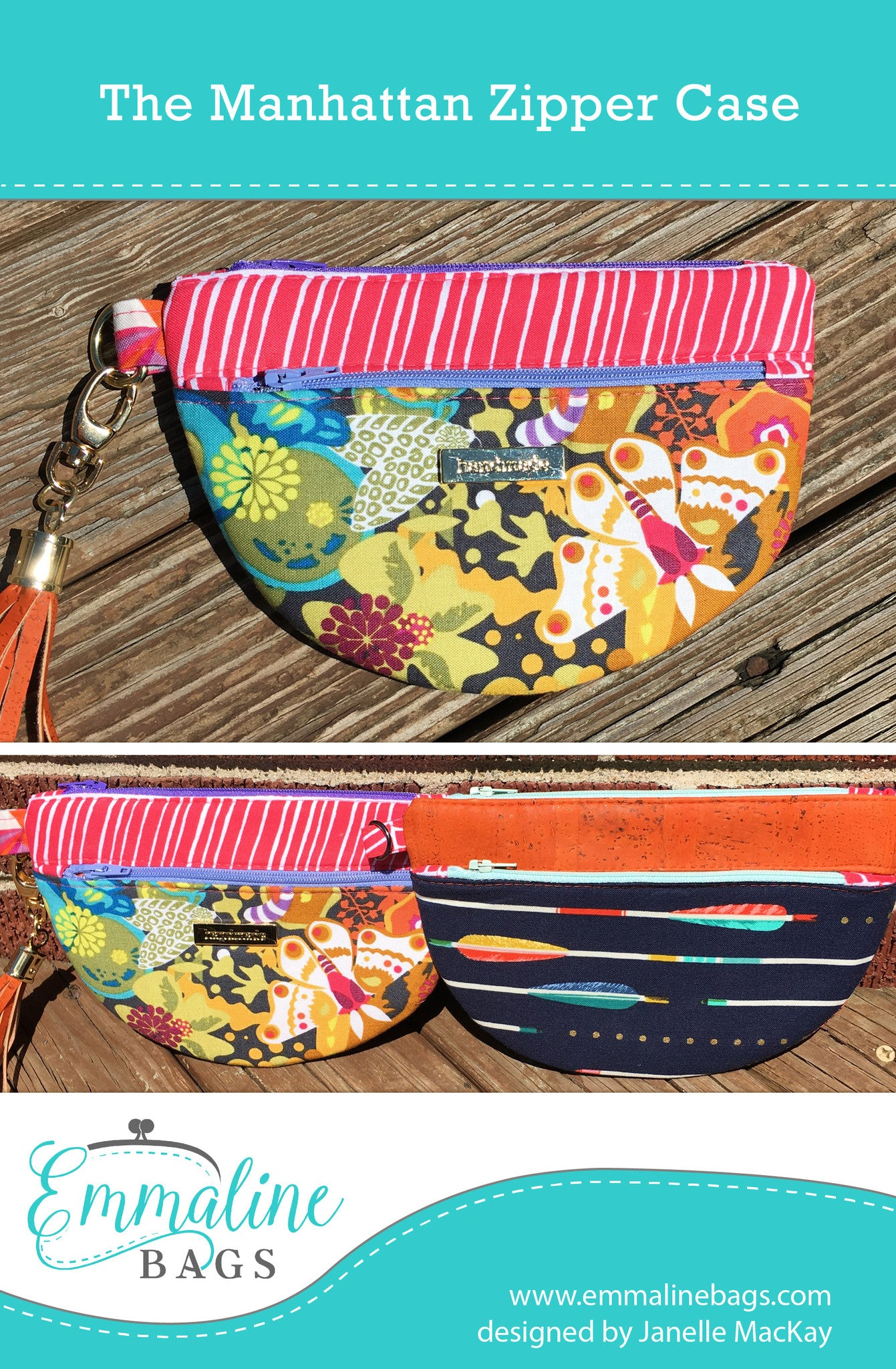 Zippered Book Cover Pattern Free : The manhattan zipper case a free emmaline bags pattern