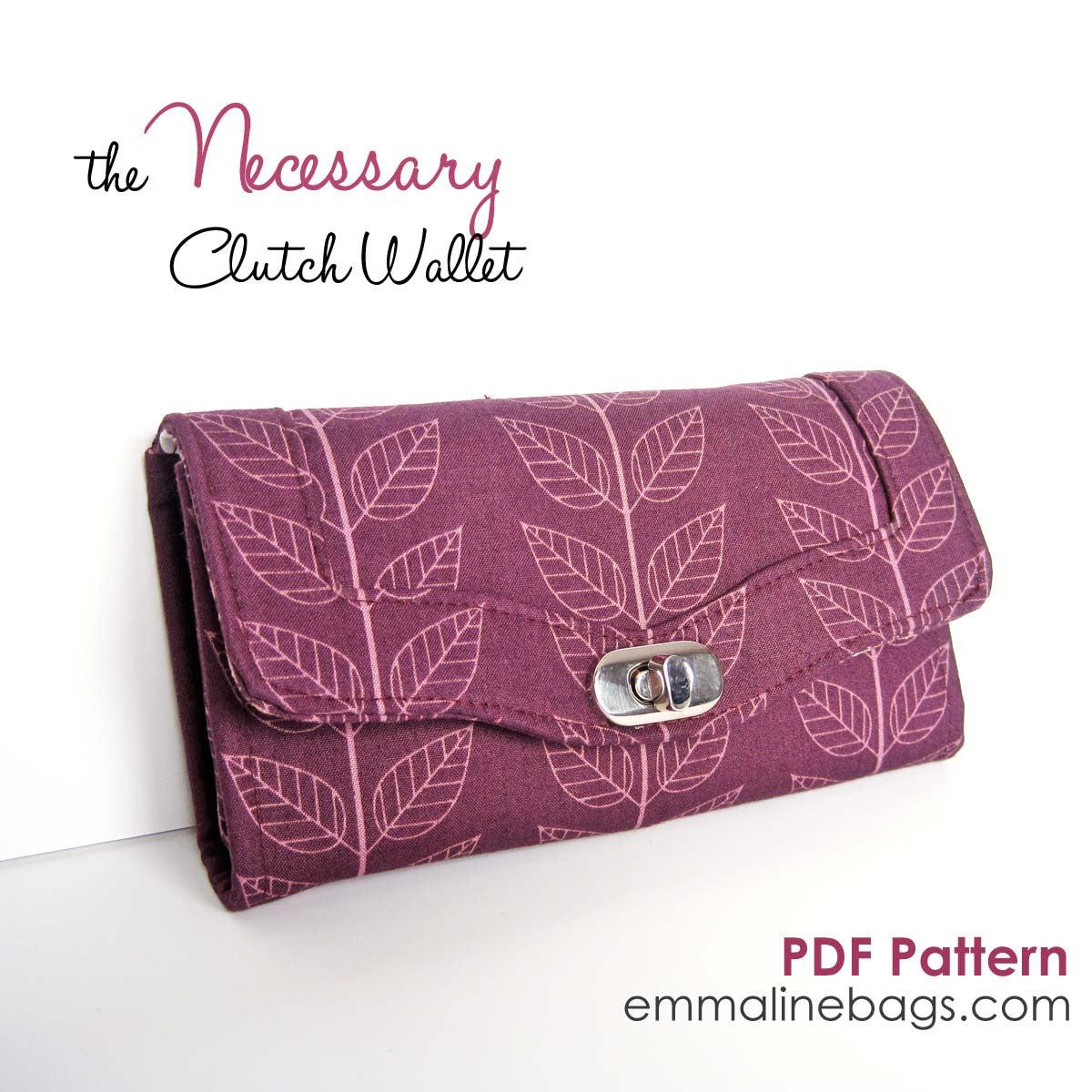 Necessary Clutch Wallet Paper Pattern By Emmaline Bags