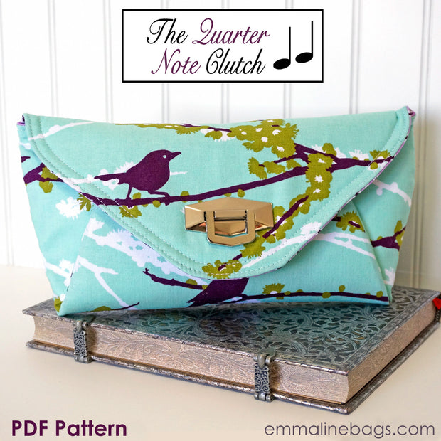 The Quarter Note Clutch Purse