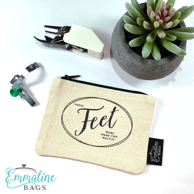 """These FEET Were Made for Walkin'. "" Organic Cotton Zipper Pouch"