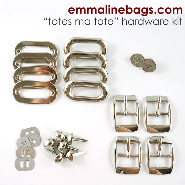 Hardware Kit: Totes Ma Tote in Nickel