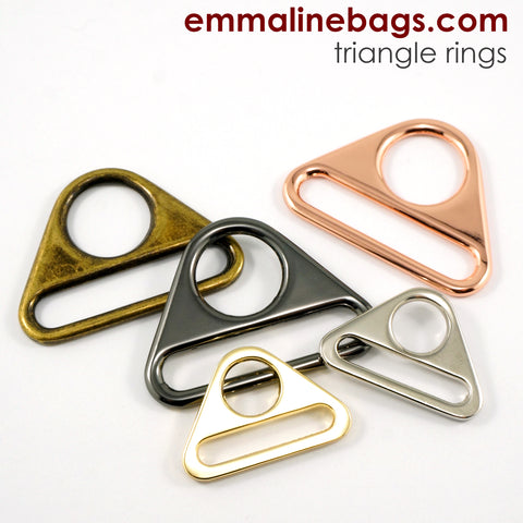 "Triangle Rings: 1 1/2"" (38 mm)  in 5 Finishes (2 Pack)"